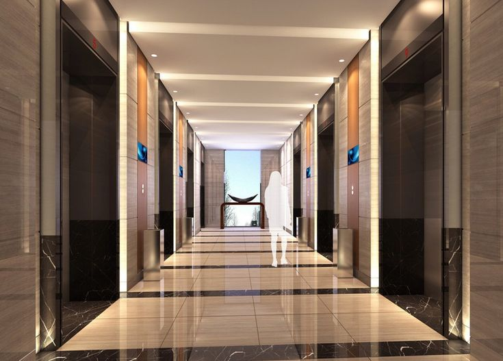 Elevator Lobby - lighting & floor design | HOTEL | Lift ...