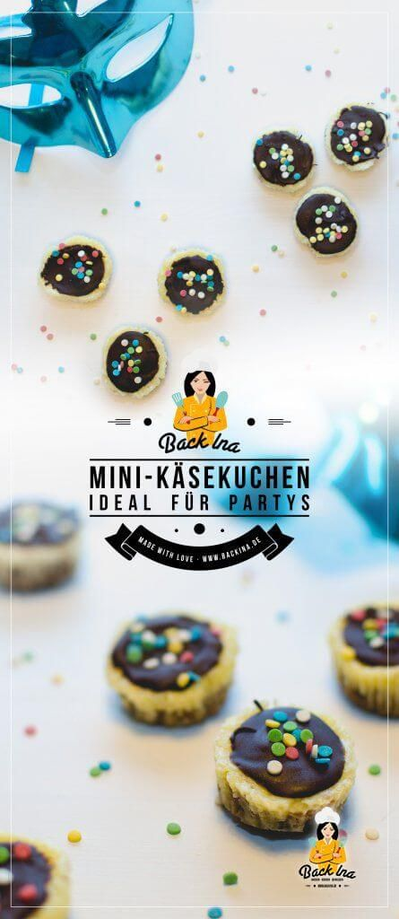 Mini Käsekuchen / Mini Cheesecakes mit Keksboden