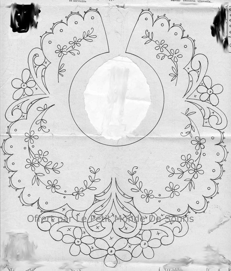 cutwork bib pattern