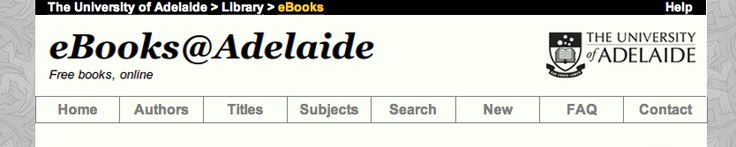 """Showcasing """"the Great Books"""" of literature in a readable HTML format.  Voted this source as one of the best free reference sites in 2010. This site is home to all of the creative commons licensed materials, but offers adjustable fonts & downloadable formats like ePub/Kindle. Users can use the search function or browse tabs by author, title, & subject. Author bios are included. This site is perfect for students who have forgotten their Norton anthology at home. (2012). FREE."""