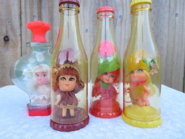 Mattel Strawberry Short Cake Dolls in a Bottle, Vintage Shirley Strawberry Doll, Original Laffy Lemon Doll, Miniature Kleo Kola, Christmas by MemaAntiques on Etsy