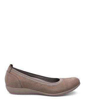 69fc37aecee1 Dansko Kristen Ballet Flats  Taupe Milled Nubuck