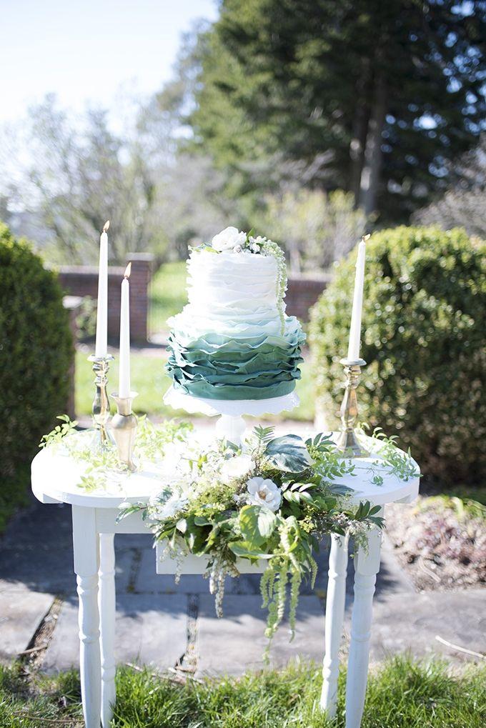 Aqua, Black U0026 White Wedding Ideas   Romantic Neutral Garden Wedding  Inspiration   Elizabeth Moore