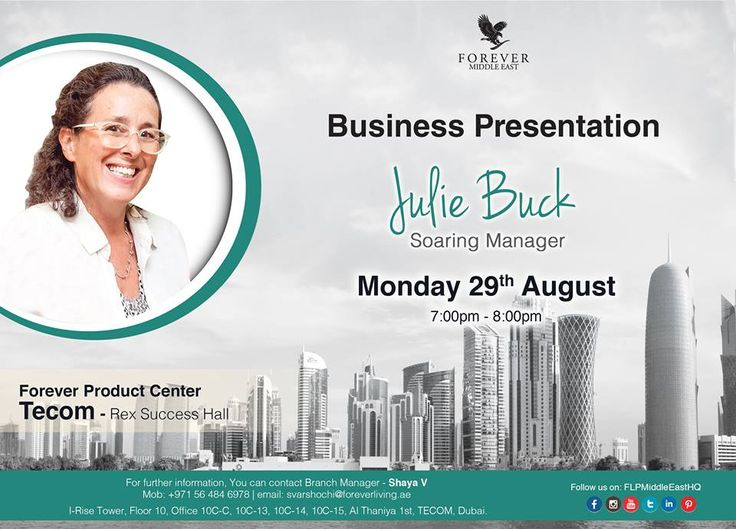 Business Presentation Julie Buck ~ Soaring Manager Monday 29th - business presentation