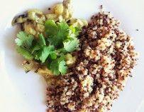 Dîner du soir : curry de légume au quinoa