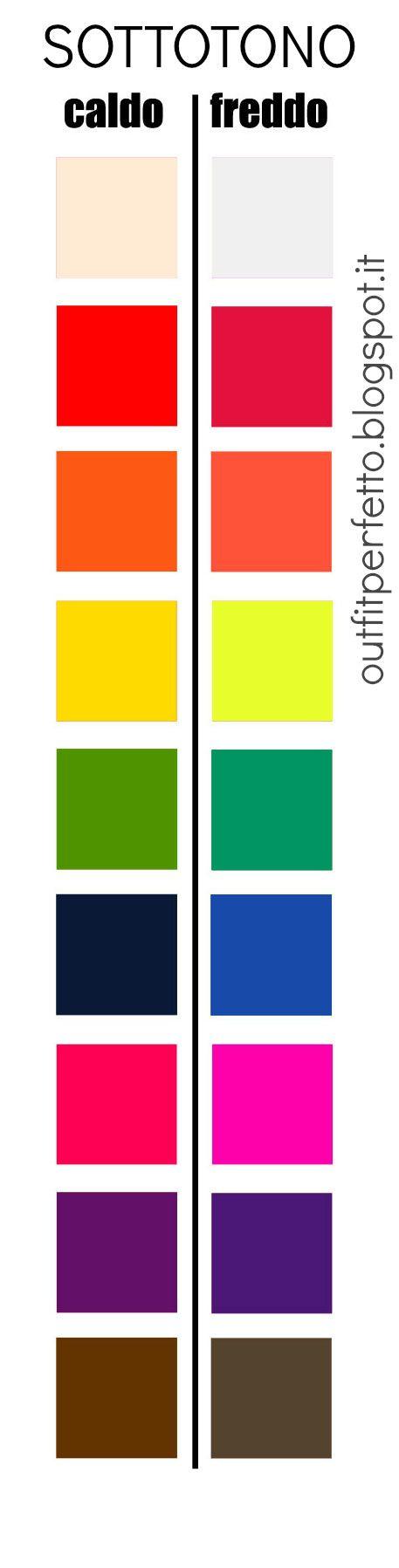 Come scegliere i colori giusti per il nostro sottotono di pelle? Trovando le sfumature, fredde o calde, di ogni colore!