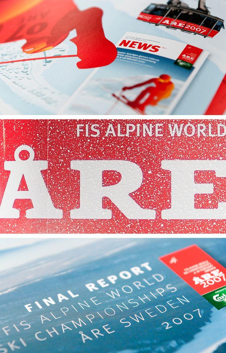 1954 gick första alpina VM av stapeln i Åre. 2007 var det dags igen och då skötte vi all marknadsföring. Det blev många annonser, affischer, broschyrer, sponsorpaket, ja till och med ett par specialdesignade slalomskidor och en VM-glass.