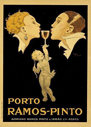 Millésime. Bières, Vins et Spiritueux » PORTO. RAMOS-PINTO » Environ 1920 Sur Format A3 Papiers Brillants de 250g. Affiches de…