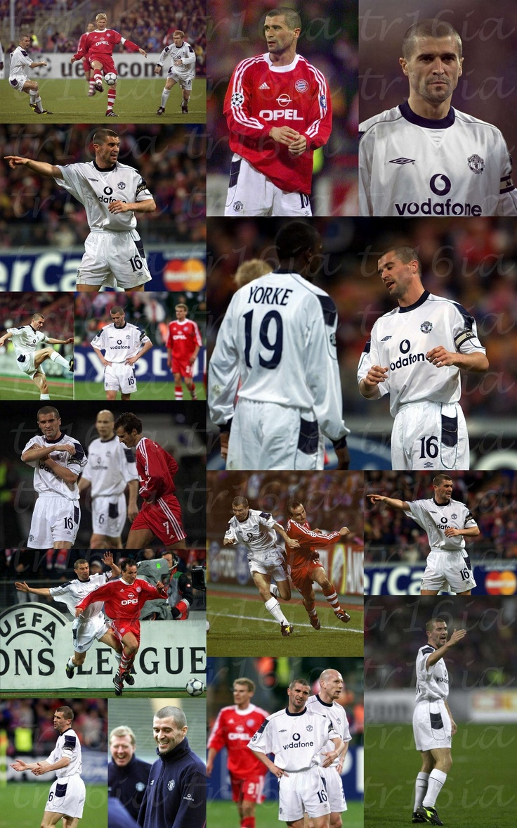 Photo Collage of the Day:  April 18, 2001, Champions League Quarter-final, second leg  Bayern Munich 2 - 1 Manchester United (Agg: 3-1).  A goal from Ryan Giggs isn't enough and a grim Roy Keane sees his side go out of European competition again. Match report:  http://goo.gl/g9kIy