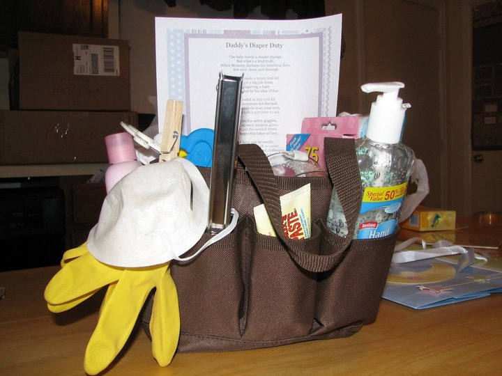 a great baby shower gift for the new dad our mini organizer filled with lots
