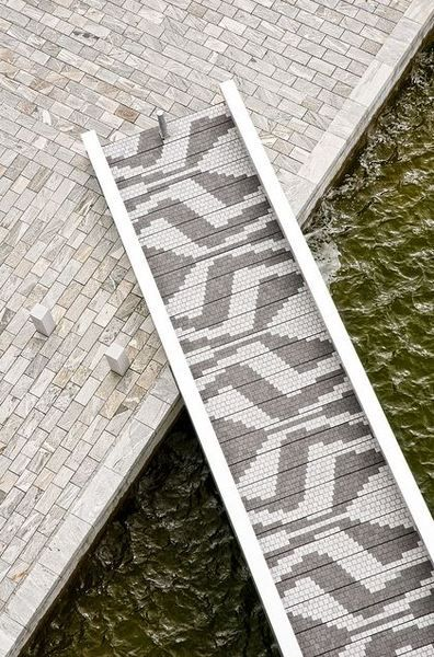 Bridge in the Orestad area of Copenhagen.