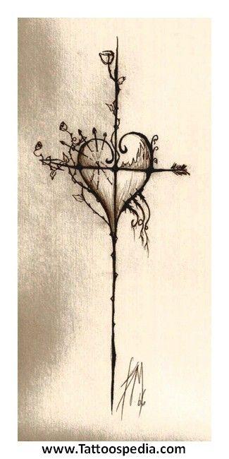 Cross Heart Tattoos Women 3