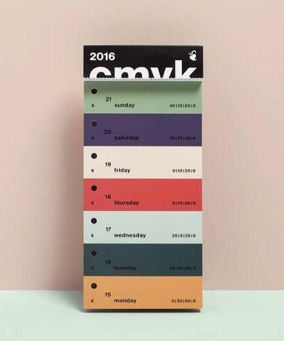 CMYK swatch calendar, Peter von Freyhold