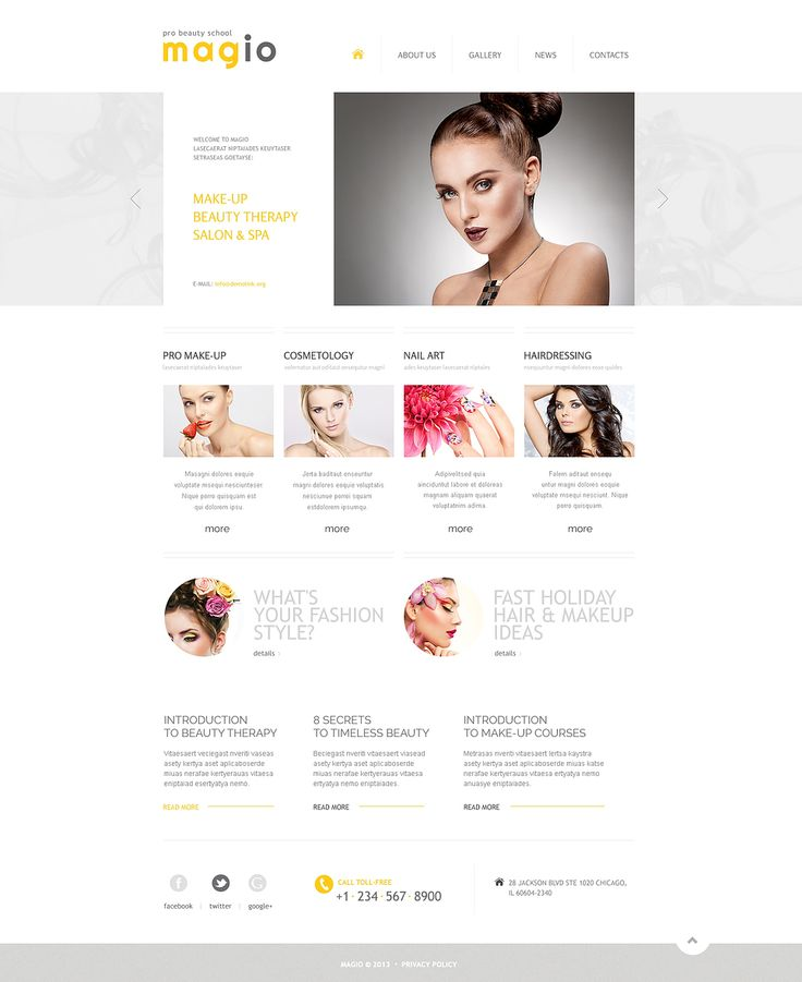 There is no doubt that our beauty templates will be very successful investment - you won't be disappointed. www.titantemplates.com