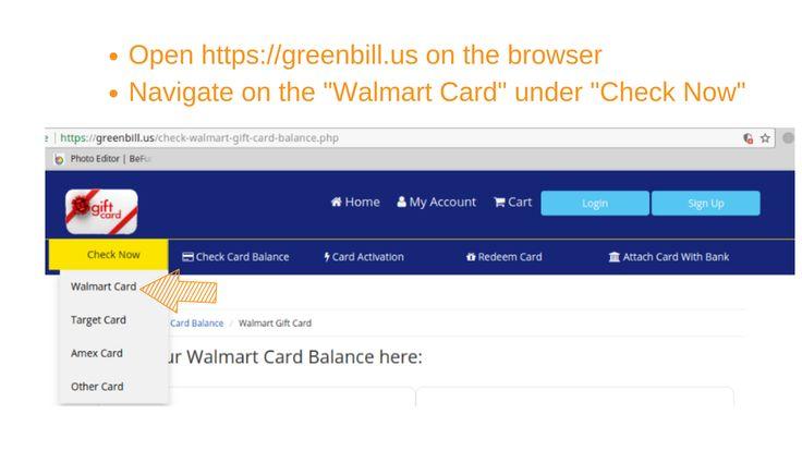 Check walmart gift card balance online walmart gift