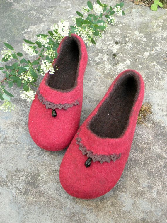 Felted slippers Passion dance by Briga on Etsy