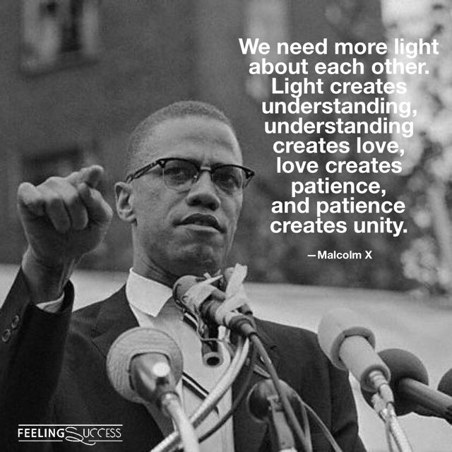 Malcolm X Quotes about Unity, Human Dignity & Thinking with an Open Mind.    More Malcolm X Quotes: https://www.feelingsuccess.com/malcolm-x-quotes/
