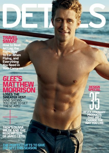 Matthew Morrison shirtless for Details!