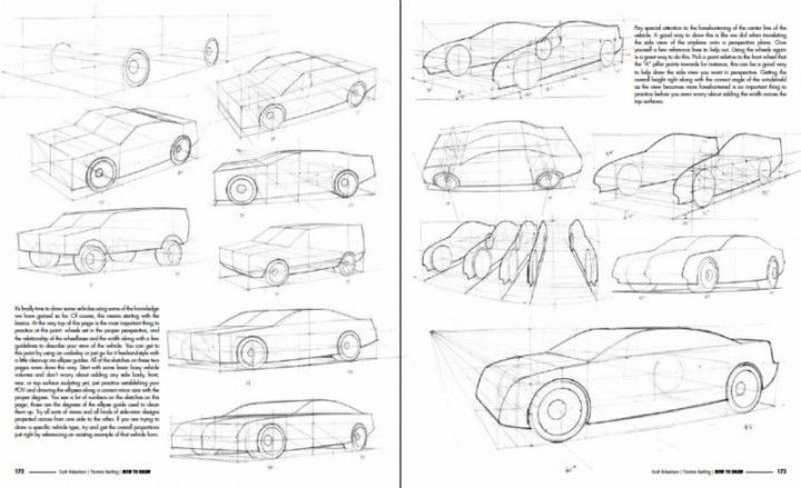 How To Draw book - Drawing Vehicles in Perspective