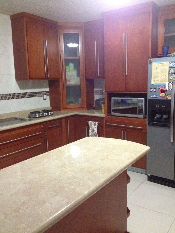 Cocinas integrales muebles madera cocina pinterest for Ideas para muebles de cocina