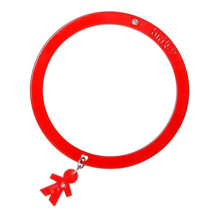 Bracciale linea #passion by #birikini: tinta unita rosso
