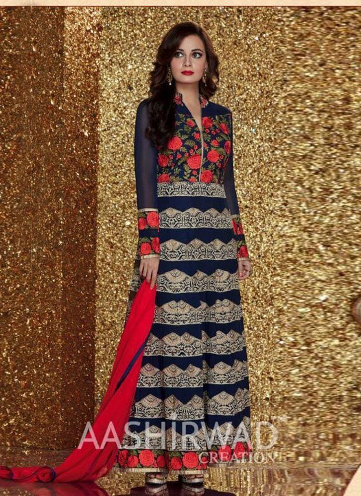 Indian Pakistani Salwar Kameez Bollywood Suit Ethnic New Dress Anarkali Designer #kriyacreation #DesignerSuit