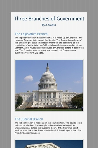 general learner civics government three branches