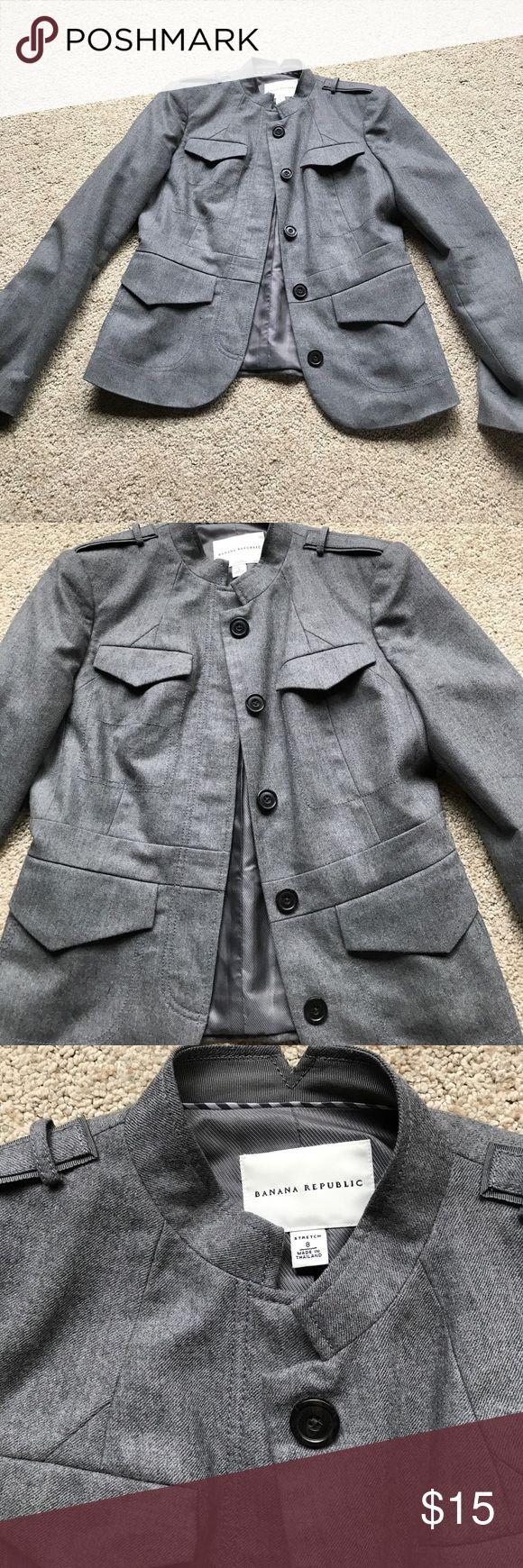 Wool Banana Republic Jacket Wool Banana Republic jacket in size 8. Never been worn and in great condition! Banana Republic Jackets & Coats Blazers
