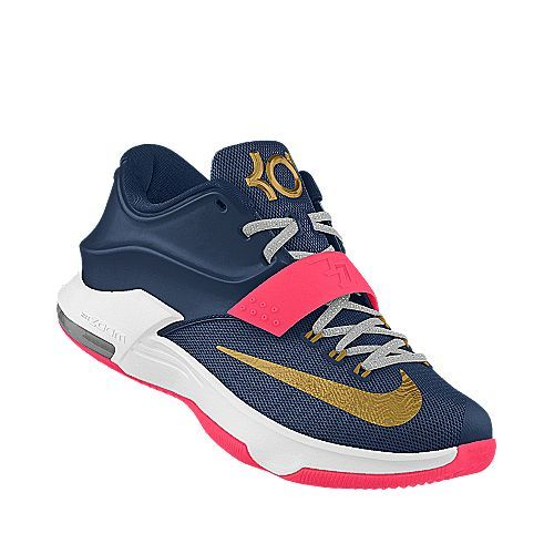 Nike Midnight Navy/Hyper Pink/Metallic Gold Golden Cure KD 7 iD Men\u0027s  Basketball