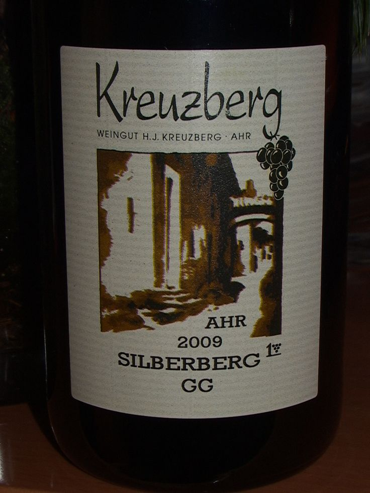 Silberberg GG 2009 Pinot Noir, Top Quality from Kreuzberg H. J., Ahr, Germany.