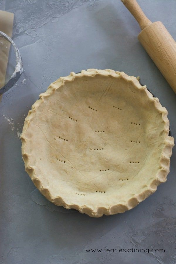 This is the only gluten free pie crust recipe you will need. This simple homemade gluten free pie crust recipe is flaky and light.