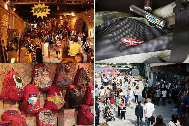 Eastpak featured the work I did on one of their (giant) bag during an art exhibition at Brunch Bazar in Paris.