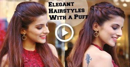 2 Min ELEGANTE Frisuren mit einem Hauch für eine Cocktailparty Frisuren für Inder
