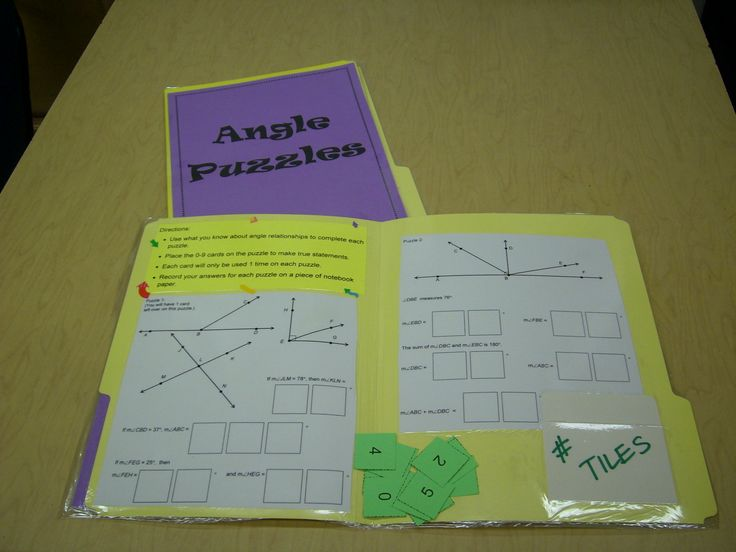 Middle School Math Centers....love the organization with laminated folders and directions.