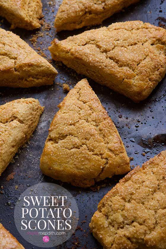 Sweet Potato Scones recipe, great for breakfast, brunch and snacks!