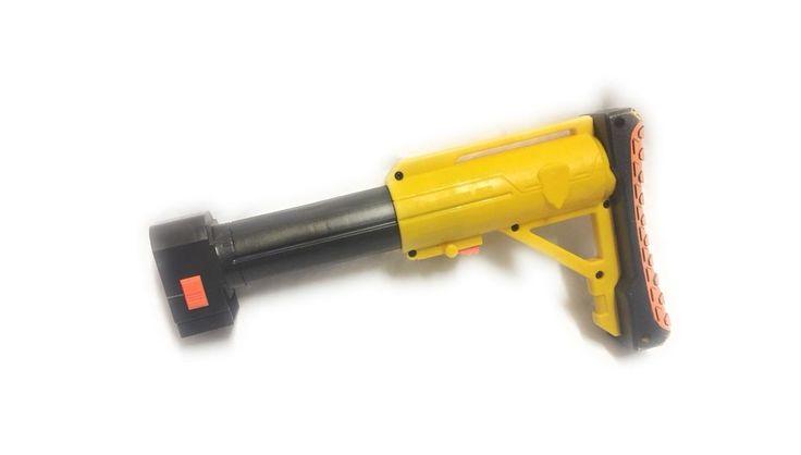 Nerf N-Strike Shoulder Stock Yellow Raider CS-35 Adjustable Replacement C044-A  | eBay