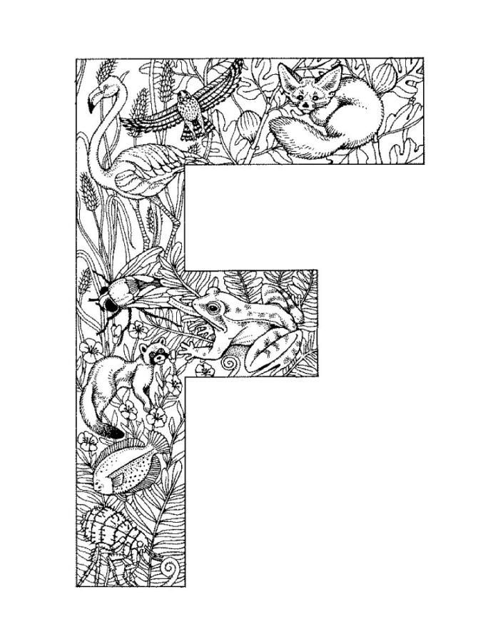 It's just an image of Insane Free Printable Alphabet Coloring Pages for Adults