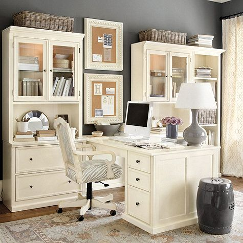 The Yellow Cape Cod: Elegant His and Her Home Office