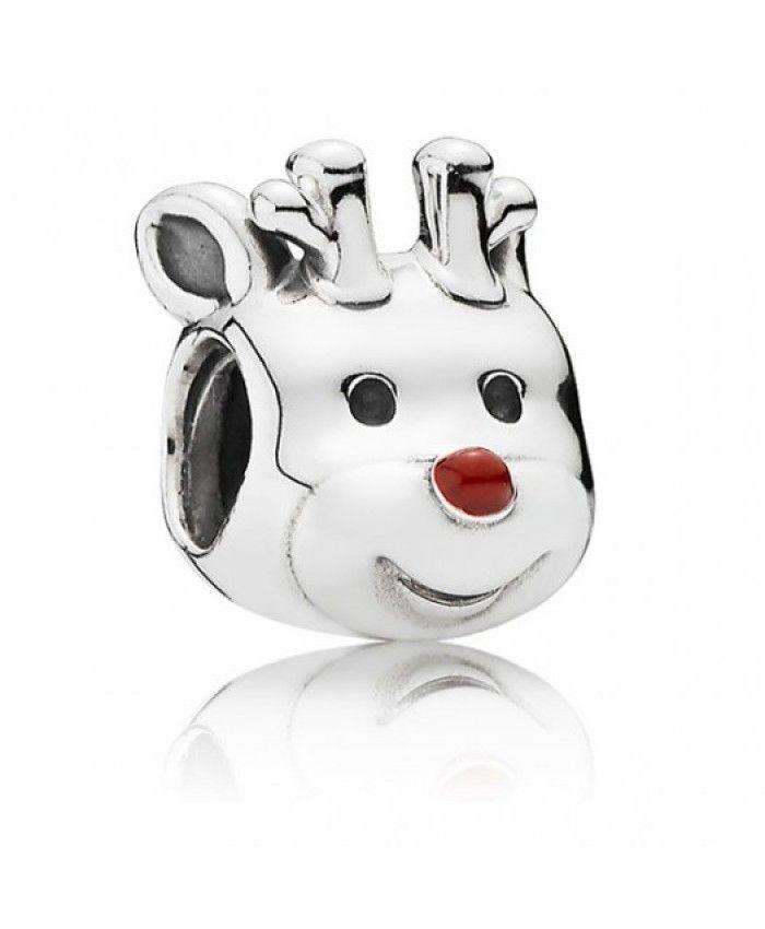 Cheap Genuine Pandora Christmas Red Nosed Reindeer Charm 791781EN39 UK