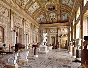 Galleria Borghese in Rome, Italy. Art Gallery houses some works by Titian and Bernini