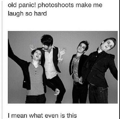 That is the natural form of the Panic!At The Disco crew