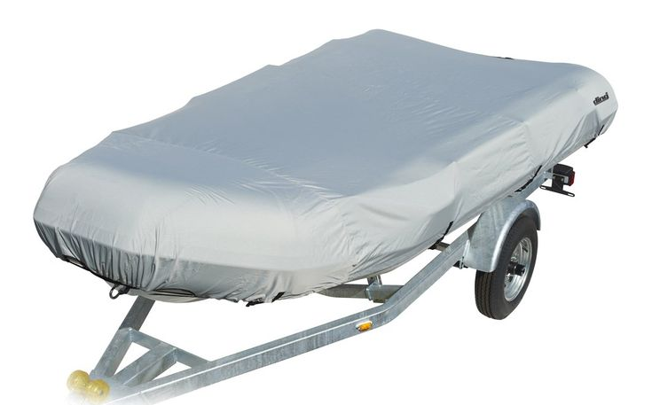 """Ding by Eevelle Dinghy Boat Cover - fits 11.5 Foot Long and 60"""" Wide Beam - Silver"""