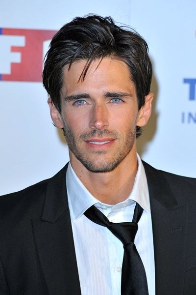 Soap opera star Brandon Beemer (Bold and the Beautiful, Days of Our Lives, Dirty Soap)  Was surprised how shy he was.  Yes, his eyes are really that blue! Won't be surprise to see his career take off soon.