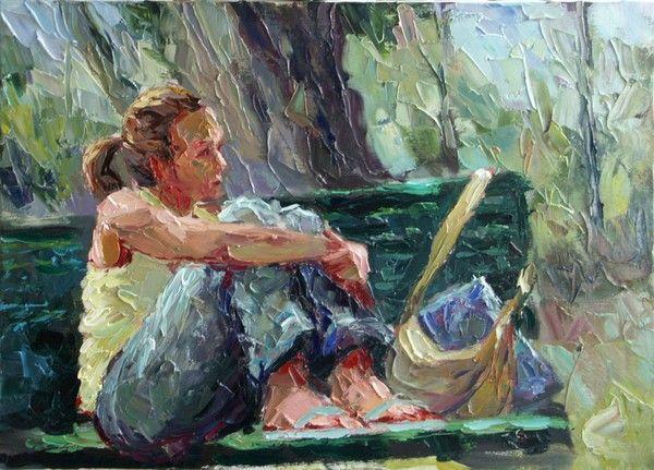 studentessa con libro chiuso by ciro d' alessio on ARTwanted