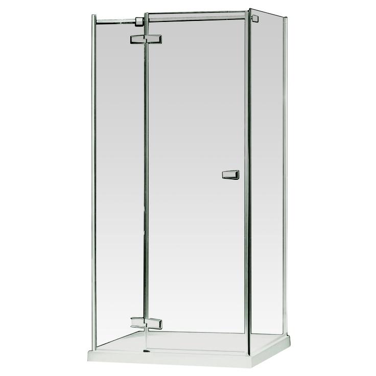 Shower screen frameless euro 1200x900x1900mm hinged for Bathroom wall panels bunnings