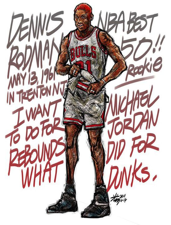#Yellowmenace: NBA LEGENDS by KIM MINSUK (김민석) - Lots of buzz bout Dennis Rodman lately  *See More Minsuk Basketball Art HERE - NBA Season 2014-15> http://yellowmenace8.blogspot.com/2015/04/art-minsuk-kim-nba-2014-15-season-in.html Korean Basketball> http://yellowmenace8.blogspot.com/2015/05/art-korean-basketball-illustrated-by.html