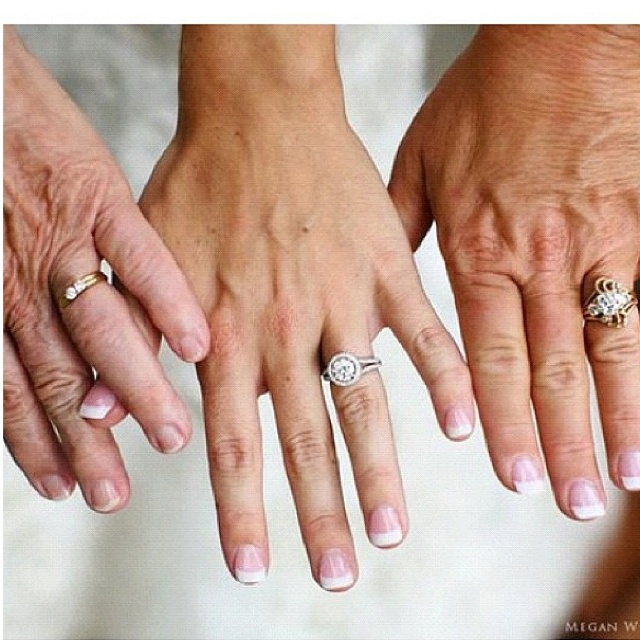Love this wedding picture idea..3 generations ❤ not for sure if my grandma is going to be able to make it