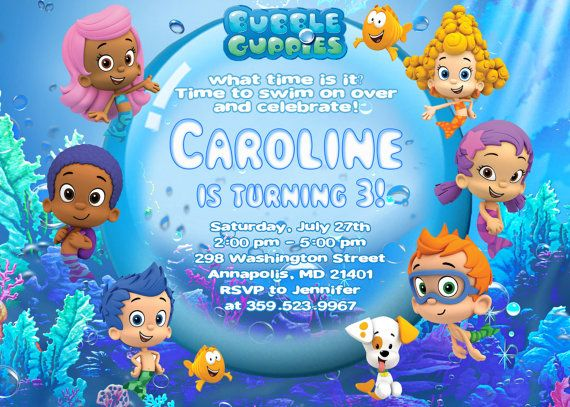 110 best images about Bubble Guppies Party Ideas – Bubble Guppies Party Invites