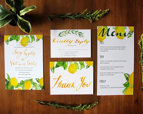 Clementine wedding invitations