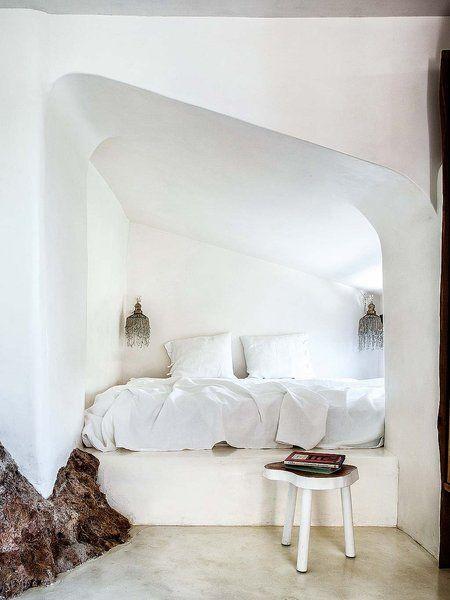 Dormitorio con tintes marroquíes